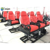 Quality Vibration 3 Seats Movie Theater Chair 5D Red Colour 3 DOF Platform wholesale