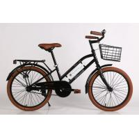 Quality CE standard hi-ten steel  24/26 inch New York style city bike with Shimano 6/7 speed and Cowhide seat wholesale
