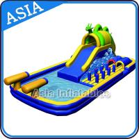 China Outdoor  Inflatable Water Park Slide With Swimming Pool , Inflatable Aviva Water Park on sale