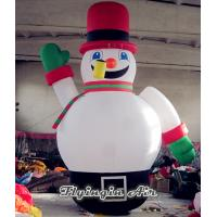 Quality Cute Inflatable Christmas Snowman with Red Hat for Christmas Outdoor Supplies wholesale