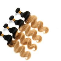 Quality Virgin Ombre Hair Weave Bundles , Body Wave 3 Tone Ombre Brazilian Hair wholesale