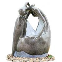 Quality Fiberglass Resin Garden Fountains Beautiful Lady Marble Color for Garden Decorative wholesale
