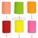 Quality 15 Cm Spring Garland Paper Lanterns Craft Diy Portable Handmade Christmas Ornaments wholesale