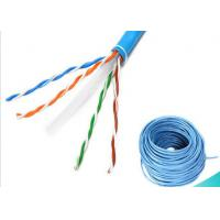 China 4 Pairs Ethernet Lan Cable / CAT6 UTP Cable 1000ft 0.58mm BC Fluke Pass on sale