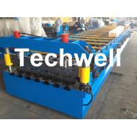 Cheap Automatical Steel Roof Wall Panel Roll Forming Machine With 13 - 20 Forming for sale
