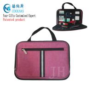 Quality Electronics Travel Organizer Storage Bag , Pink Gadget Case Organizer wholesale