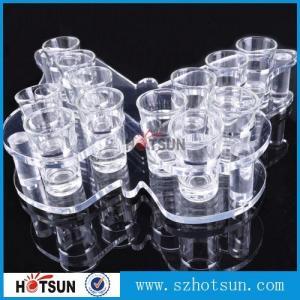 Cheap Acrylic Wine Glass Tray Holder/ acrylic shot glass tray,acrylic shot glass for sale
