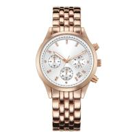Quality Round Shaped Large Dial Womens Fashion Watch , Rose Gold Waterproof Watch wholesale