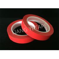 Quality Heat Resistance Red Polyester Mylar Tape For Wrapping Coils / Capacitors / Wire Harnesses wholesale