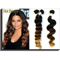 Quality Grade 6A+ Ombre Virgin Peruvian Hair Bundles 14--24 Inch For Young Girl wholesale
