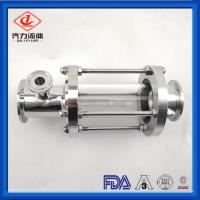 China Customized Sanitary Tank Fittings Inline Pipe Sight Glass Clamped Connection on sale