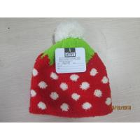 China Grils and ladies Knitted hat with half face fabric materials jacquerd technology on sale