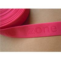 Cheap 38mm Custom Woven Ribbon Trim Underwear Elastic Band Embroidered for sale
