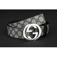 Quality Hotest 2014 new designer double G buckle blue letter leather fashion male business belts wholesale