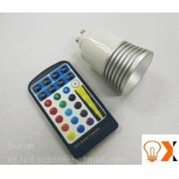 Quality 5w/80mm×50mm RGB color changing led GU10 light bulb and remote AC90 - 240V,50-60 Hz wholesale