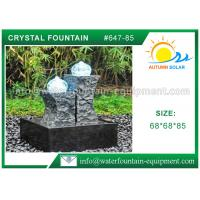 Quality Carved Granite backyard Water Fountains Glass Crystal Balls For Decoration wholesale