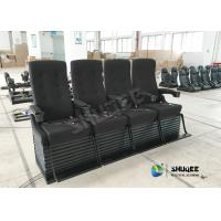 Quality Special Effect Custom 4D Movie Theater Motion 4D Chairs Red / Black For Shopping Mall wholesale