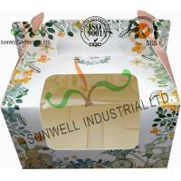 Cheap Recycled White Cardboard Cake Packaging Boxes With Lids Full CMYK Printing for sale