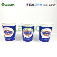 China Insulated Blue Drink 12 Oz Paper Cups For Fast Food Restaurant , Party on sale