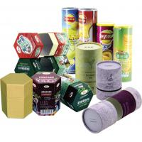 Quality Cylinder Colorful Recyclable Paper Cans Packaging for Food Cosmetics and Matches wholesale