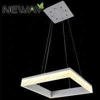 China Selling wholesale good interior lighting chandelier square square led ceiling light modern chandeliers on sale