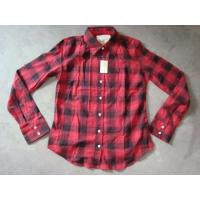 Quality 20K pcs Abercrombie & Fitch plaid pattern girl's shirt inventory ,women's Fall's slim-fit casual Tops wholesale