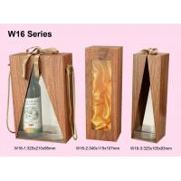 China Customized Wooden Wine Box, Wine Packaging Boxes Wrapped With Woodgrained Paper on sale