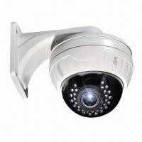 China CCD Vandal-resistant Dome Camera with 30-piece LEDs, 20 to 25m IR Distance, 650TVL High Resolution on sale