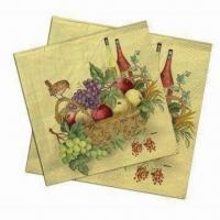 Quality Cocktail Napkins, Made of 100% Virgin Wood Pulp, Used for Food Safe Oil wholesale