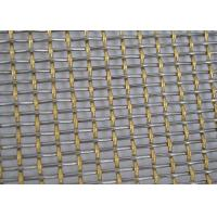 Quality Silver SS Double Crimped Wire Mesh For Sieving Ore Sturdy Structure wholesale