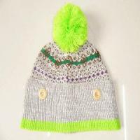 Quality 100% Acrylic Knitting Pattern Winter Hats and Caps wholesale