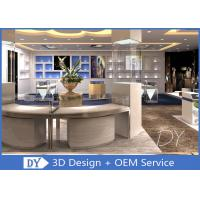 Quality OEM Wooden Glass Retail Jewelry Display Cases With Lights / Shop Display Cabinets wholesale