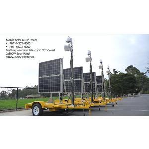 Quality 6m mobile solar cctv trailer system wholesale