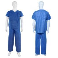 Buy cheap Waterproof Disposable Medical Protective Clothing Dustproof V Shape Collar from wholesalers