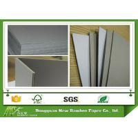 Quality Rigid Gray Paperboard Single Side Coated Duplex Board Grey Back 1550gsm Stiffness wholesale