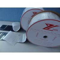 China Hot Melt Nylon Hook And Loop Fastener Tape With Heat Pressing Adhesive Film on sale