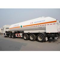 Quality 51550L 3 Axles LNG Tank Truck Trailer , Stainless Steel LNG Transport Trailers wholesale