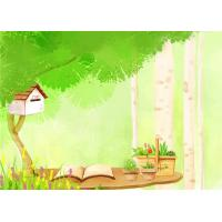 Cheap Cartoon Picture Green Bamboo Fiber Board Healthy and Livable for Living Room for sale