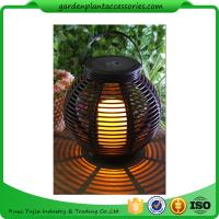Quality Medium Round Outdoor Rattan Solar Lantern With 2V / 80MA Solar Panel wholesale