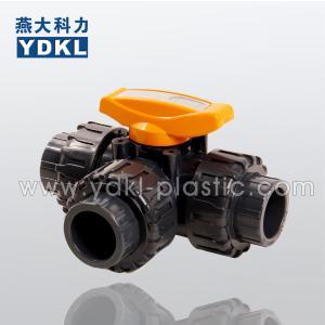 Quality Pvc 3 way ball valve 1/2 wholesale