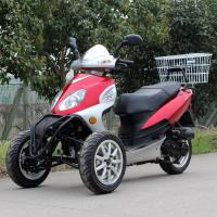 Quality Air Cooled 50cc Adult Tri Wheel Motorcycle Single Cylinder 4 Stroke With Rear Box wholesale