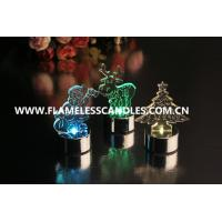 China Amber / Color Changing Flameless LED Christmas Candles for Wedding / Holiday Gift on sale