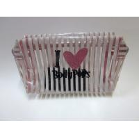 Quality Customized transparent travel cosmetic bag with zipper for ladies / girl wholesale