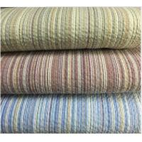 Quality Colored Striped Linen / Cotton Seersucker Fabric 32*30 / 80*70 wholesale