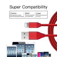 Quality Nylon Braided USB Data Cable , USB Charging Cable For IPhone 6S / IPhone X wholesale
