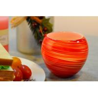 Quality Colorful Glass Candle Holder for Wedding Decor , Red Yellow Color Material Mixed Planet wholesale