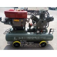 Quality Gold Mining 25 HP Diesel Engine Mobile Piston Air Compressor 3.2m3/Min 7 Bar wholesale