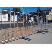 Quality Hot Galvanized Road Fence Barrier Flat Foot Metal Material For Safe Transportation wholesale