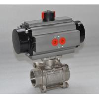 Quality Thread WCB Stainless Steel Pneumatic Ball Valve / 3 Way Flanged Ball Valve wholesale