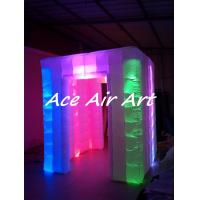 Quality high quality RGB lights inflatable cube led strip photo booth with 16 colors for events wholesale